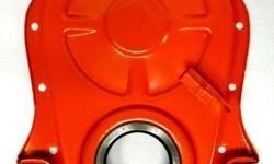 """1967 68 66 65 Corvette Camaro Chevelle Chevy 7"""" Timing Chain Cover 1965 1966 1967 1968 Early design OEM steel 7 inches Big Block 427 & 396 Chevrolet engines BBC , no dowell holes, AOR timing tab, new seal, very clean and painted $75. Shipping is available"""