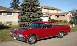This El Camino came from the US, excellent shape ,has a 350 engine and automatic tranny, new interior , A/C , power steering and power brakes with dics on the front , appraised at 24,500 only want 15,000 certified.