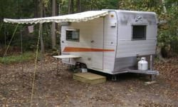 1966 Vintage Shasta Compact 13' trailer, interior 6'x10',approx 1200 lbs easy to tow. Brand new tires. Bearings repacked in October.Ready for you to restore but can be used as is. We were camping in October 2011. Dinette folds down into queensize bed,