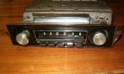 1967-68 Camaro/Firebird A.M. factory radio complete with face plate & knobs, checked & works   please contact after 7-P.M.evenings or email any time( see pics.)   $200.00 o.b.o.