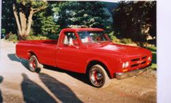 1967 GMC 1/2 ton truck. This truck is a must see. This is the first year of the 67/72 model/ years. In 1967 they had a small back window in the cab, no marker lights and the letters GMC was the only year they were stamped in the grill. It has