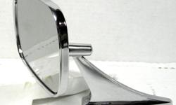Used GM Factory original Outside rectangular mirror side view nice chrome part # 3965923 , no mounting hardware. $50.
