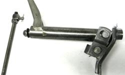 GM original 1968 69 70 71 72 Pontiac GTO Judges Le Mans clutch linkages assembly counter shaft Z bar with lower push rod ,rod hole is slightly worn , may fit other GM A body like Olds Cutlass, Buick Skylark, decent driver quality $80. Shipping is