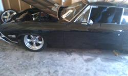 """1968 chevelle ss clone..mint body and paint 327 small block..runs great(headers intake ,carb, ,th350 trans with shiftkit  b&m shifter,17inch torque thrust rims with newer rubber .full air ride front /back 6"""" up and down ,,too much to list $26.500 obo"""