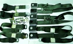 Factory FoMoCo original Ford Mustang or Mercury Cougar seat belts set for 1969 model with production date July 1968 for early 69 model year original clean condition dark green, 6 buckles three of them plastic Chrome starting to peel off and 2 has the