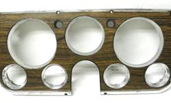 GM factory original dash bezel for 1969 to72 Chevrolet GMC truck models # 6492873 No damage of cracks beautiful wood grain finish but the chrome starting to show its age, for factory gauges. $50
