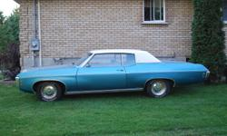 I have a 1969 chevy caprice from Sask. for sale. No time to work on it. Would like to see it go to a good home. It drives like it was new. All new suspension and brake lines.  It also need some body work done to the rear quarters and a fresh paint job.