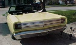 1968 Plymouth satellite convertible-which is a rare and hard-to-find car. This is a complete car and it now has a 318 motor, this car originally came with 318 motor. The car is now running you can turn the motor over with the key. The car has been