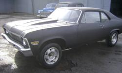 1970 Chev Nova 2 Door Fresh 350  cu. in. 69 Vet Motor New 1/4 panels, new trunk Needs to be finished. Have most of the parts $7500.00 OBO NO TRADES PLEASE