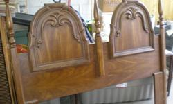 Solid wood.... Oak... Warm rich finish..... 1970s QUEEN HEAD BOARD SOLID WOOD. BED RAILS ARE NOT INCLUDED.   GOOD CONDITION   ASKIN $50.00   IF INTERESTED CALL JENNIFER OR ANGELO 289-240-5047   CHEERS!