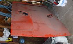 1971 challenger r/t hood , steal original in exellent condition , no rust , comes with inserts , 500. obo