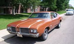 for sale 1971 olds cutlass 373 posi rear end new driveshaft 350 rocket buckets counsle shift many other new parts asking 6,500.00  obo please call 477-1772 or 230-8069 thanks