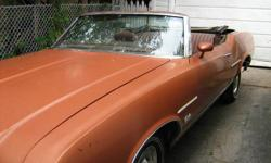 1971 Oldsmobile Cutlass Supreme Convertible   350 Rocket Engine, Automatic, P/S, P/B, P/W, Convertible top mechanism works well, Rally Rims with Centres, Wheel discs (as seen), & Muntz 8 Track.   Comes with owners manual, warranty book, protect-o-plate
