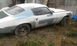 1972 camaro ss  PROJECT  was a 350 4 speed no motor or trans  Lots of good parts or restore.comes with rally rims call with questions can deliver in lambton,thanks for looking   519-333-9230 body is rough.