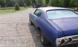 Price reduced must sell 1972 chevrolet chevelle coupe. great winter project has a 350 motor does not run needs electric fuel pump.Transmission is a 350.  New springs in the front aswell as new shocks in front and back. cowl induction hood. needs almost