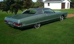 Make Mercury Model Marquis Colour GREEN Trans Automatic kms 38000 2 DOOR HARDTOP, 429 ENGINE WITH 4 BL CARB. ONLY 38000 MILES, ORIGINAL PAINT, UNDERCOATED, POWER WINDOWS, VINYL TOP, HIDEAWAY HEADLIGHTS, FENDER SKIRTS, ALWAYS STORED INSIDE, INTERIOR AND