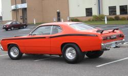 1972 plymouth duster street strip car ,340 stroker engine all new,made over 440 hores power and 500 pounds of tourque on pump gas ,have dyno sheets,all new suspension ,new exhaust front to back with cut outs for racing.new carpet ,seats. new weld wheels