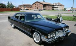 Long Black Cadillac   Starting New Project so this one must go..........   (At $7800.00 works out to about $1.56 per pound)   This automobile is in exceptional condition with low (approx 70,000) original miles. I am only second owner of this car as I