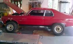 1973 Nova Excellent condition,hasnt seen snow in 30 years,no motor,just rebuilt turbo 400 ,new front end,bushings, shocks Wilwood disc brakes ,line lock,B&M quick silver shifter,sub frame tied,have brand new floor ,has Cragar SST rims 14x7 fronts and 15x8