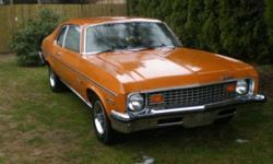 1973 Chevy Nova Coupe for sale, I'm the fourth owner, its in great shape. Lots of extra parts. Original paint, 85000 kms, lock rear differentials, very light rust. I have the factory papers when the car was first bought. I just don't have the time to work