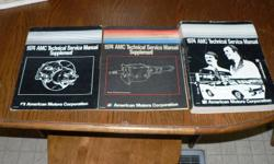 Hello; I have for sale a 1974 AMC 3 Book Service Manual Package in good condition.Amx included. Very Rare. $40.00 ****Have AMX&Engine Emblems*****