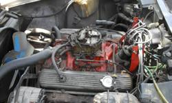 Motor rebuilt in 1982 by Corvette Canada including new pistons, transmission includes shifter and linkage unless sold before hand. Will separate but would like to keep together Motor can be heard running on facebook at