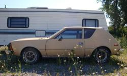 I have for sale a 1975 AMC Gremlin. It has a straight 6 engine and automatic transmission, both in good working condition.  Within the last couple years it has received a new radiator, thermostat, master cylinder.  Steering and brakes are ok. Tires are