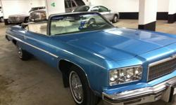1975 chevrolet caprice classic Convertible original 454 matching Numbers motor was rebuild at 91.000 miles now has 93.000 miles 400 turbo trans new rad & water Pump & heater core new mufflers & pipes new  tune up lots of New parts new convertible top
