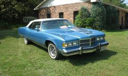 1975 PONTIAC GRAND VILLE CONVERTIBLE. LOADED, 54,000 ORG MILES. BUILT FOR GM EXECUTIVE IN 1975. (HAS BRASS PLAQUE ON DASH) $15,000 CERT