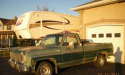 1978 GMC A/C, P/W,P/L,Tilt but no cruise. Rebuilt engine and transmission (approx 20,000km). Aftermarket intake, valve covers and carburetor. New tires,brakes,shocks,fuel pump,plugs,wires,dist. cap,coil, and module. Needs some body work (cab corners and