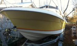 1979 Bayliner Saratogo 2550 25.5' 5.7L Volvo Penta 280 Volvo Outdrive (recently completely rebuilt)   Seats redone 3 years ago Full Cuddy Cabin Stand up head (washroom) Fridge and ice box sink Full size bed and smaller kid bunk seats 8   Comes with tandem