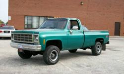 1979 chevy k10 4x4 1 owner from new 79636 mils   350 motor automatic apraced at 15000.00   if intrested call 705-725-0112