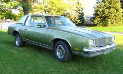1979 OLDSMOBILE CUTLASS SUPREME ORIGINAL PAINT, INTERIOR AND LANDAU TOP MINOR SURFACE RUST ABOVE REAR WHEEL WELL AND JUST BELOW VINYL TOP ON THE LEFT SIDE 305 V8 4 BARREL POSI REAR END SHIFT KIT NEW REAR SUSPENSION POWER BRAKES, STEERING, WINDOWS MOTOR