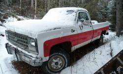 1980 chev 2500 4x4 good chasi and running gear,bodys shot.