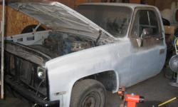 I have a 1981 Chevy Short Box for sale, the cab has been taken off and the frame has been done right. It is pretty much ready to be painted. All new lines, gas tank just needs drive train and paint job. I have $2000 into it.