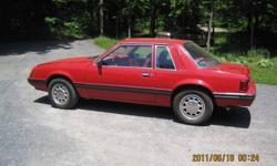 1981 Ford Mustang Coupe, 3.3L I6, auto, very solid original car. Red exterior, red interior. Make a great first car or project 5.0L conversion car. I also  have a 5.0L with the 5 speed T-5 for an extra cost.  $1200 obo Located just outside Brockville.