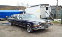 Trade or sale willing to trade dor???? email me what you have   1982 cadillac limousine. car runs  . it was parked  4 years and not driven.34000 original miles on a 4100 engine.Equipped with wet bar tv and radio.Sold as is NOT certified. Does drive and