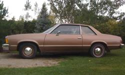 1981 Chevrolet Malibu, 2 door, in excellent Factory condition, 3.8 V6 Automatic transmission, Runs and drives great, This vehicle was bought brand new by my Grandmother, Serious inquires Only, $5500The only trade is for cash.The car is located just south