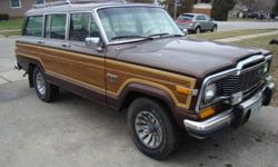 1982 jeep wagoneer, very clean unrestored original truck,it is a ltd model 4x4 quadra track, loaded leather pw,pl,cruise etc etc. thisis an original un modified truck,original am fm cassette,new full tune up,carb fuel pump,plugs,wires,filters etc.drives