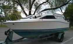 * * * located in Facquier, BC * * * $2,500 for boat with trailer MUST SELL, try your offer Boat and trailer weigh approx 5,000lbs combined It would cost approximately $200 to get it running and in good shape It has a bathroom with flush toilet Sleeps 4