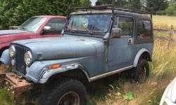 Make Jeep Year 1983 Colour Green Trans Manual Project Jeep CJ 7. Running comes with new calipers, lift kit, good tires