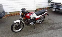 Selling a 1983 Honda CBX550f with only 5600kms. Clean bike needs very little to safety call billy at 9054842155 This ad was posted with the Kijiji Classifieds app.