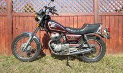 Runs well. Perfect learner bike. All signal and brake lights and horn work. Recent tune up done including oil change, air filter, carburetor adjustment and battery. Tires in good condition.