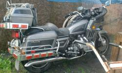 I have a 1983 Honda Goldwing, 1100cc, Fully loaded, air shocks. Nice touring bike. Runs well, good shape. Call James at 613-657-1947 leave message