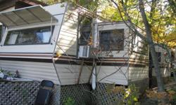 1984 Corsair with 2 pull outs. One bedroom with queen bed.  Second pull out is the dining table, great windows to see the beautiful nature that surrounds you.  Kids and adults alike love the vintage look and feel of this beautiful trailer. Plenty of