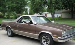 I'm selling my El Camino for $9,800.00 o.b.o.  PLEASE NOTE:  Car has 72,000 miles, not kms.   This is a Florida Camino and I bought it in Michigan, Indiana in 1999.  Car is rust free.  It was repainted once in 1997.   Options include: 454 cu. in. (not