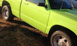 Make Chevrolet Colour green Trans Automatic kms 50000 1984 S10 all done over with 305 4 barrell motor with headers truck is just like new really clean truck call Roy 882-2215 853-6611