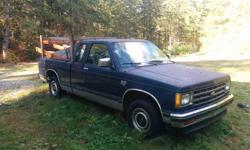 Make Chevrolet Colour Blue Trans Manual Up for sale/trade is an older chevy S10. Truck has been parked for 6 months or so and likely needs a battery, but ran great up until it was parked. No mechanical issues but it does have some rough spots. The driver