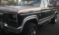 Make Ford Model F-350 Year 1984 Colour black kms 156000 Trans Automatic Stunning Truck. Excellent shape. A real head turner ! Diamond stud box liner , newer tires , new front leaf springs, dual fuel tanks beautiful Red original interior ( new stereo )