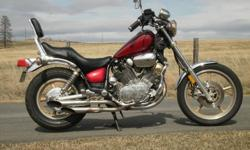 Virago in excellent shape ready for collector plates. This bike is serviced, all original, and ready for the road.